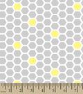 Nursery Flannel Fabric 42\u0027\u0027-Bumble Bee Honeycomb Print