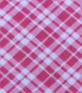 Anti-Pill Fleece Fabric 59\u0022-Pink Bias Plaid