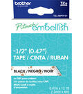 Brother™ P-touch Embellish Patterned Tape-Black Print on White with Paws
