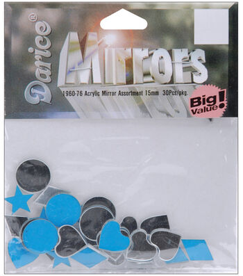 Darice Acrylic Mirror Shapes-30PK/15mm