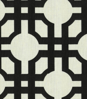 "Home Decor 8""x8"" Fabric Swatch-Waverly Groovy Grille Licorice"