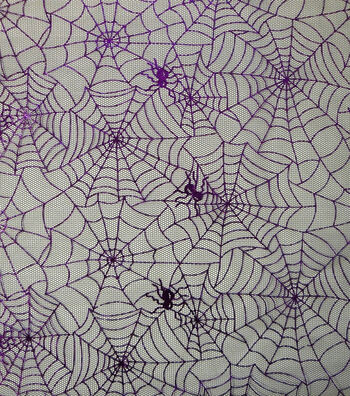 "The Witching Hour Halloween Mesh Fabric 59""-Spider Web"