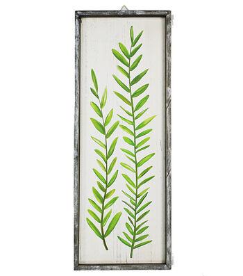 Hello Spring Vertical Wall Decor-Spring Fern