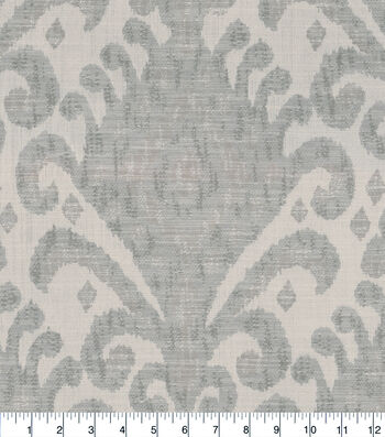Jaclyn Smith Upholstery Fabric 54''-Platinum Ikat