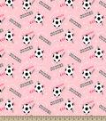 Soccer Girl Print Fabric