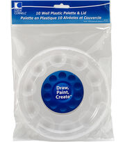 "Plastic Palette W/Lid 6.5"" Round-10 Cavity, , hi-res"