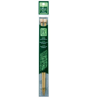 "Clover Bamboo Single Point Knitting Needles 9""-Size 9"