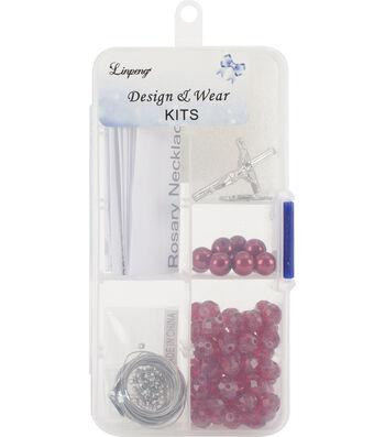 Crystal & Pearl Rosary Bead Kit