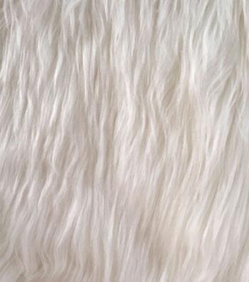 Luxury Faux Husky Fur Fabric 58''-White