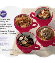 Wilton® Ceramic Mug Baking Set-Red & White, , hi-res