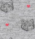 Luxe Flannel Fabric 42\u0022-Cat Gray Heather