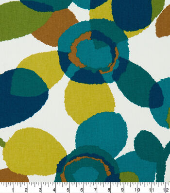 """Robert Allen @ Home Print Fabric 55""""-Abstract Flora Turquoise"""