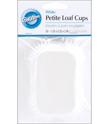 Wilton Baking Cups-50PK/White Petite Loaf