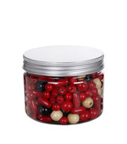 hildie & jo™ Fashion Beads in Plastic Jar-Red, Black & Cream, , hi-res