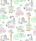 Nursery Cotton Fabric 44\u0027\u0027-Jungle Ballet