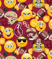 Florida State University Seminoles Cotton Fabric 43''-Emoji, , hi-res