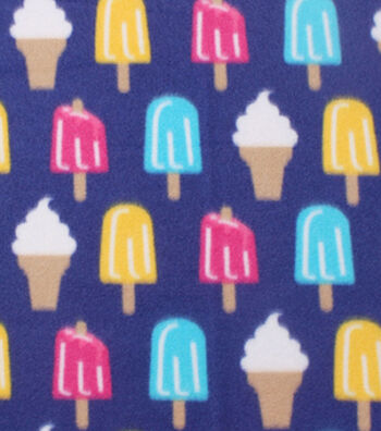 "Blizzard Fleece Fabric 59""-Popsicles And Ice Cream"