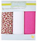 Babyville PUL Fabric 3 pack 21\u0022 x 24\u0022-Cheetah & Pink
