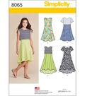 Simplicity Girls\u0027 And Girls\u0027 Plus Dress Or Popover Dress-8 1/2 - 16 1/2