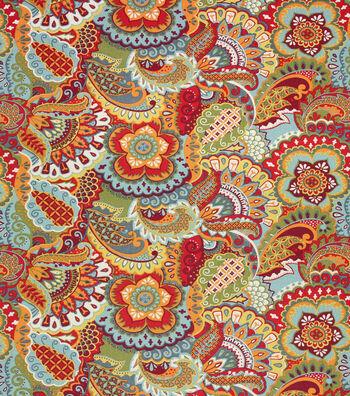 """Home Essentials Print Fabric 45""""-Sarango Garnet"""