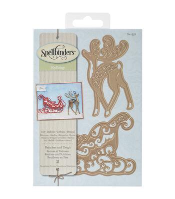 Spellbinders® Shapeabilities Dies-Reindeer And Sleigh