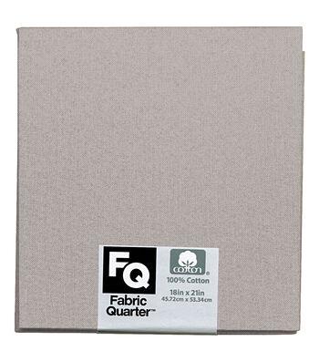 "Fabric Quarters Cotton Fabric 18""-Light Gray"