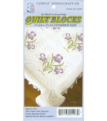 Fairway Stamped Quilt Blocks Borders Wedding Dove