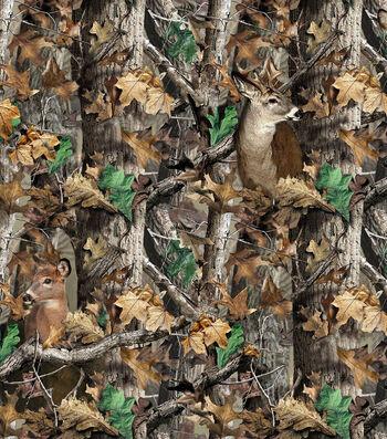 "RealTree Fleece Fabric 58""-Realtree Camo Deer"