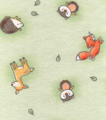 """Nursery Flannel Fabric 42""""-Woodland Tossed"""