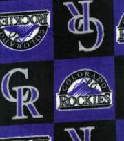 """Colorado Rockies Fleece Fabric 58""""-Block, , hi-res"""
