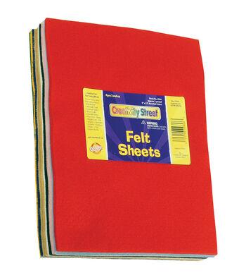 "Pound Of Felt Assortment 9""X12"" Sheets-Assorted Colors"