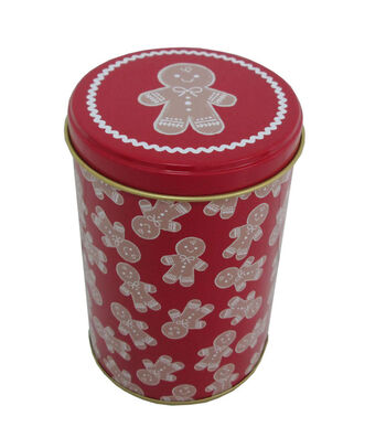 Maker's Holiday Christmas Medium Round Cookie Canister-Gingerbread