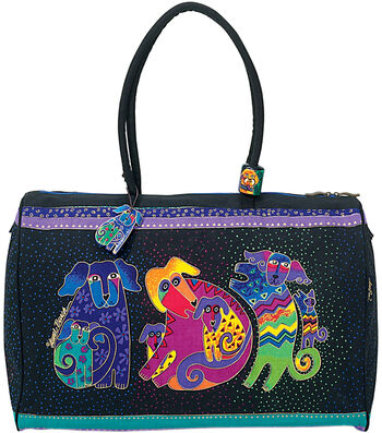 "Laurel Burch Travel Bag 21""x9""x16""-Dogs&Doggies"