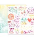 Pink Paislee Summer Lights Double-Sided Cardstock 12\u0022X12\u0022-#10