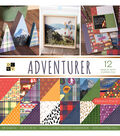 DCWV 36 Pack 12\u0022x12\u0022 Premium Printed Cardstock Stack-Adventurer