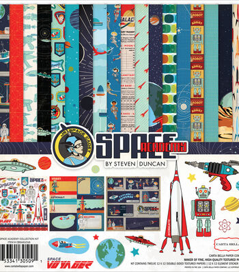 """Carta Bella Collection Kit 12""""X12""""-Space Academy"""