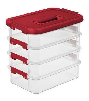 4 Layer Stack And Carry Storage Box