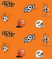 "Oklahoma State Cowboys Fleece Fabric 58""-All Over, , hi-res"