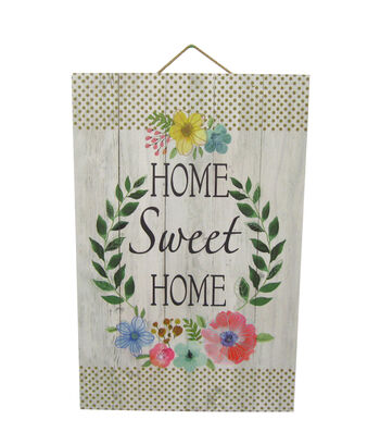 Wild Blooms Wall Decor-Home Sweet Home & Fern