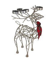 Maker's Holiday Christmas Standing Deer Iron Tealight Holder, , hi-res