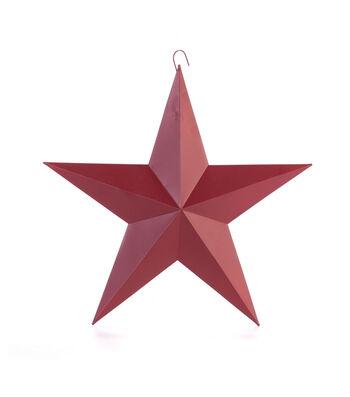Americana Patriotic 12'' Metal Star-Red