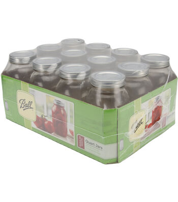Ball Regular Mouth Canning Jar 12/Pkg-Quart