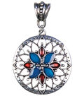 Jewelry Basics Metal Pendant 1/Pk-Sunburst Silver