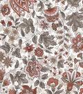 Vintage Cotton Fabric 43\u0027\u0027-Orange Jacobean