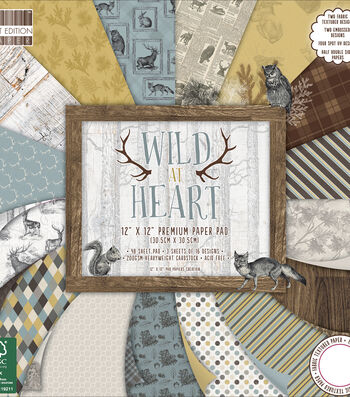 "First Edition Premium Paper Pad 12""X12""-Wild At Heart"