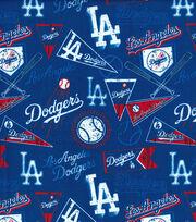 Los Angeles Dodgers Vintage MLB Cotton Fabric 58'', , hi-res
