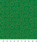 St. Patrick\u0027s Day Fabric 43\u0027\u0027-Shamrock Outline Metallic
