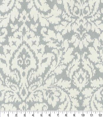 Waverly Upholstery Fabric 54''-Silver Dashing Damask