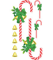 Wall Art Candy Canes W/Bells R, , hi-res