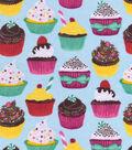 Snuggle Flannel Fabric 42\u0027\u0027-Cupcakes on Light Blue